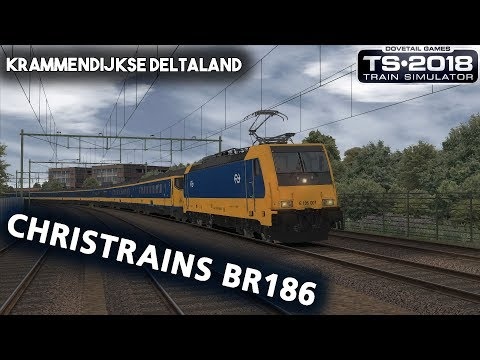 Train Simulator 2018 ChrisTrains BR186 on Krammendijkse Deltaland