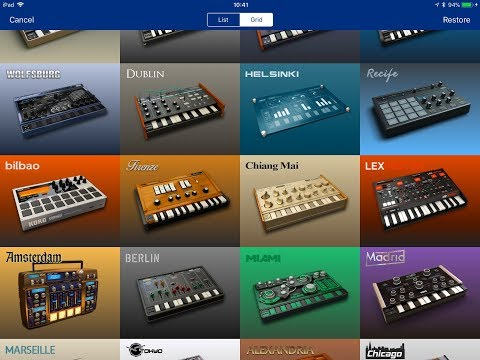 Korg GADGET -  What Gadgets Do You Get When You Buy The FULL Version - iPad