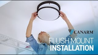 Video: How to Install a Flush Mount Light | Canarm