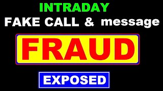 Intraday Fake call & messages ( Fraud ) ( Scam ) Exposed | stock market scams in Hindi by SMkC