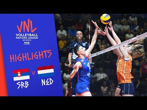 Serbia vs. Netherlands - Game Highlights Women  Week 1   Volleyball Nations League 2019