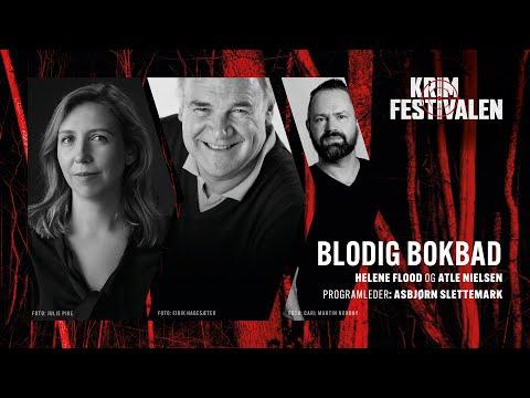 Blodig bokbad med Helene Flood og Atle Nielsen