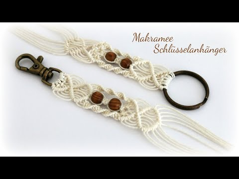 Makramee Schlüsselanhänger * DIY * Macrame Keychain