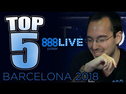 Top 5 BEST Poker Hands - 888poker LIVE Barcelona