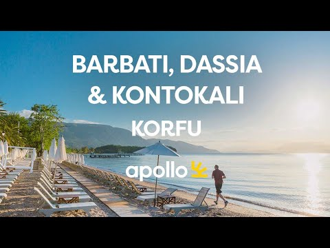 Barbati,  Dassia og Kontokali på Korfu i Hellas