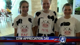 Chick-fil-A provided millions in free items today to those wearing cow costumes