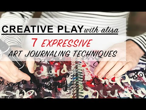 creative play- 7 expressive art journaling techniques