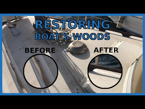 How to RESTORE the WOODS on a sailboat ⛵ with less than 20$ (The result will surprise you)