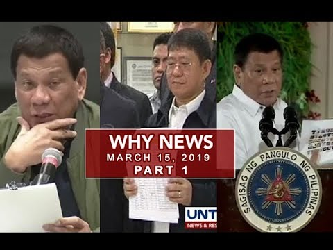 UNTV: Why News (March 15, 2019) PART 1