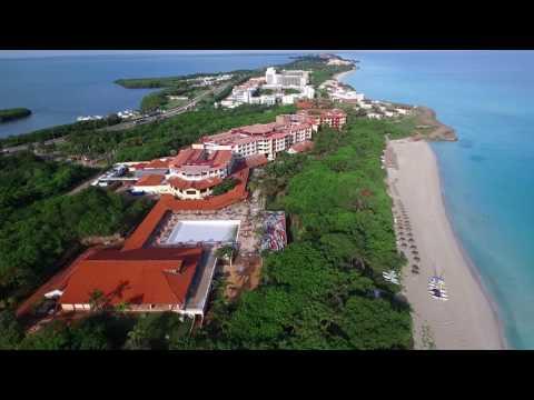 DJI Phantom 3 drone flying over Varadero beach, Cuba