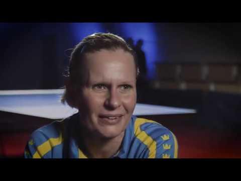 Anna-Carin Ahlquist intervju efter matchen mot Jan-Ove Waldner