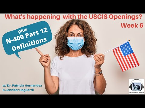 What's happening with the USCIS Openings? Week 6