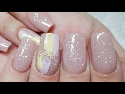 Simple Acrylic Extensions with Abstract Art (Super Simple!)