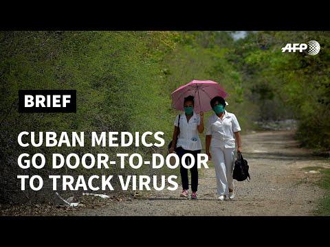 Cuban medics go door to door to track virus   AFP photo
