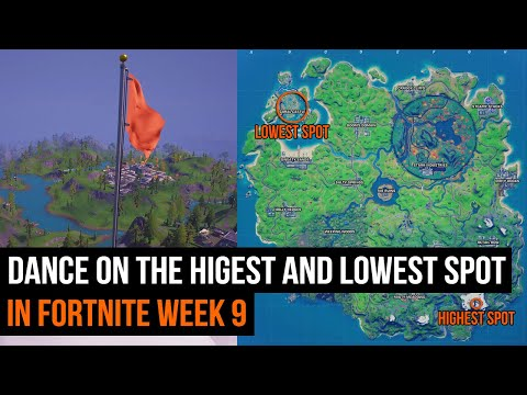 Dance at the highest and lowest spot in Fortnite - Week 9 Season 4