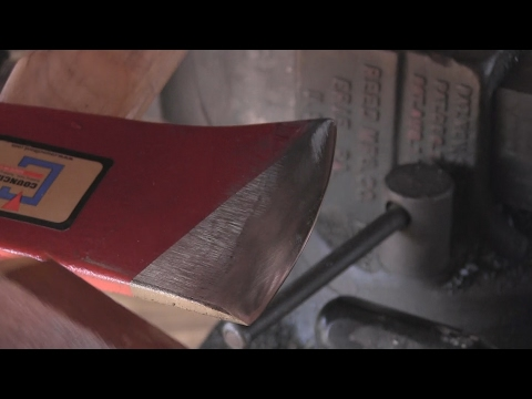 Sharpening an Axe with a  Hardware Store Grind