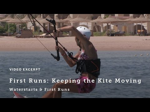 After the Waterstart, Kite Movement for Your First Runs - Kiteboarding Technique & Tips