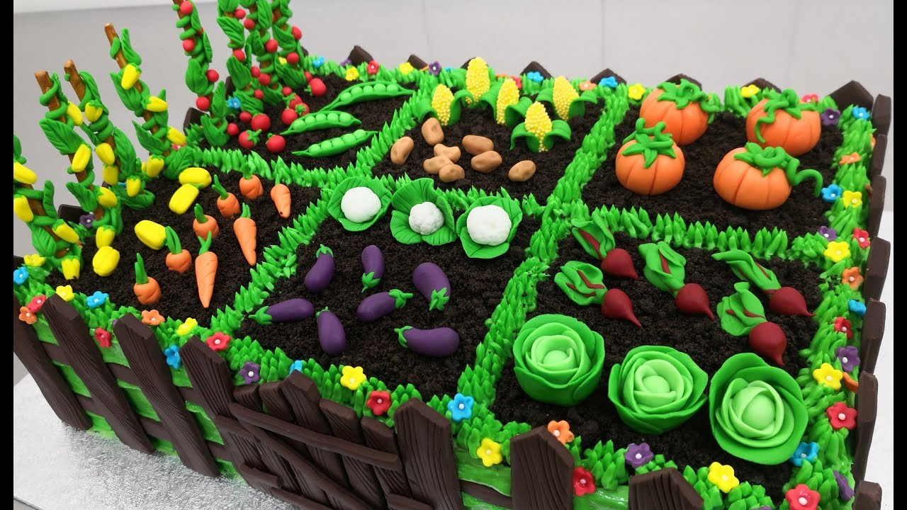 How To Make a VEGETABLE GARDEN CAKE by Cakes StepbyStep ...
