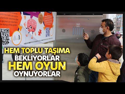 Kırşehir'de Otobüs Duraklarında Akıl Ve Zeka Oyunları Hayata Geçti
