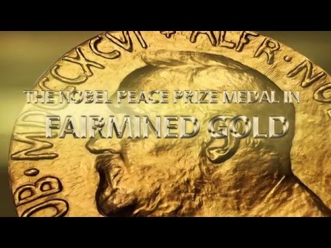 The Nobel Peace Prize Medal 2015 - For the very first time in Fairmined gold!