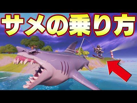 方 サメ 乗り フォート ナイト