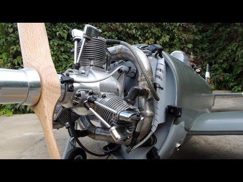 Saito FG60R3 - selfmade ring muffler in Top flite P-47 - Krumscheid tubes - UCfQkovY6On1X9ypKUr9qzfg
