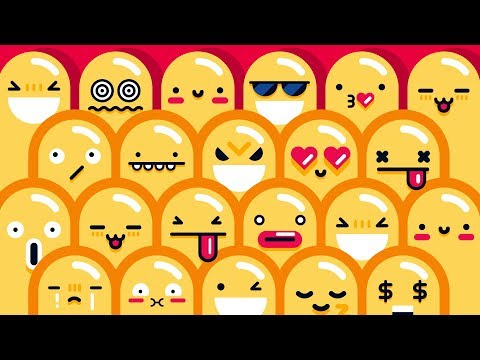 How To Draw a DOODLE CHARACTER - 20 Cute Kawaii FACES and EXPRESSIONS in Adobe Illustrator