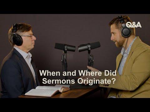 Chris Bruno & David Helm  When and Where Did Sermons Originate?  TGC Q&A