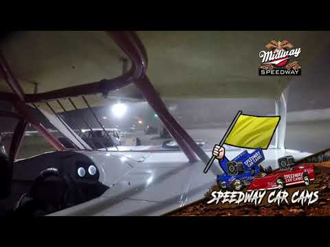 #45 Aaron Poe - POWRi Super Stock - 9-10-2021 Midway Speedway - In Car Camera - dirt track racing video image
