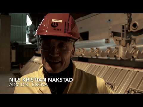 Nils Kristian Nakstad under åpningen av Hydros pilotanlegg på Karmøy