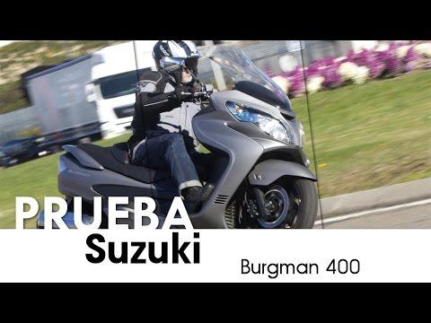 Suzuki Burgman 400 - videoprueba - castellano - 2016