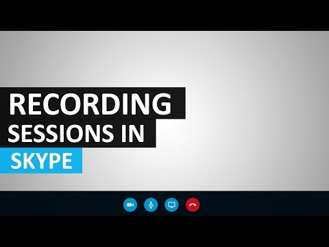 Recording your session in Skype for Business