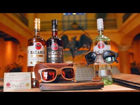 BACARDͮ Crafts Wooden Sunglasses Made From Recycled Oak Rum Barrels