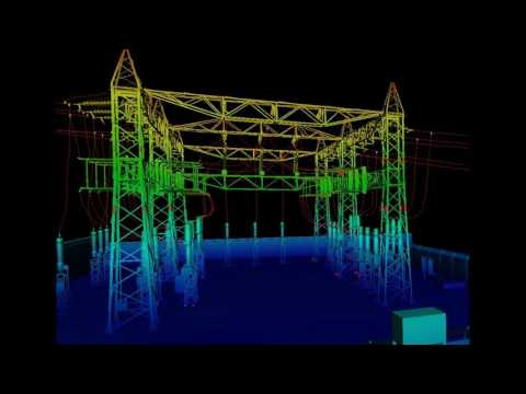 Point cloud to Electrical substation 3D modeling