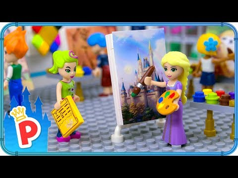 ♥ LEGO Rapunzel Goes to ART CLASS to show her Painting Skills - UCEXFDIAmobI0x7D7rnuCE7Q