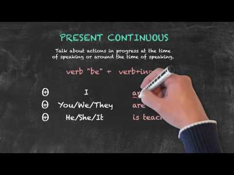 Overview of All English Tenses - Present Tenses - Present Continuous - Overview