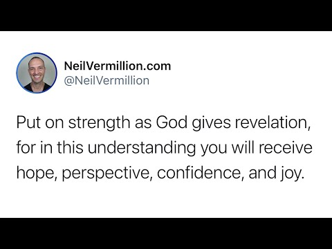 Put On Strength - Daily Prophetic Word