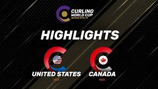HIGHLIGHTS: Canada v United States - Men - Curling World Cup Grand Final - Beijing, China