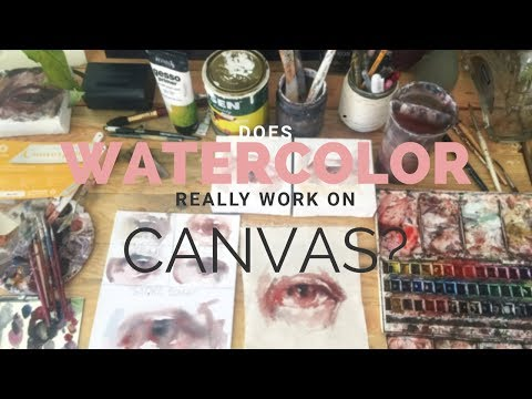[SUB] I ANSWERED THE MILLION DOLLAR QUESTION! Does watercolor really work on canvas?!?