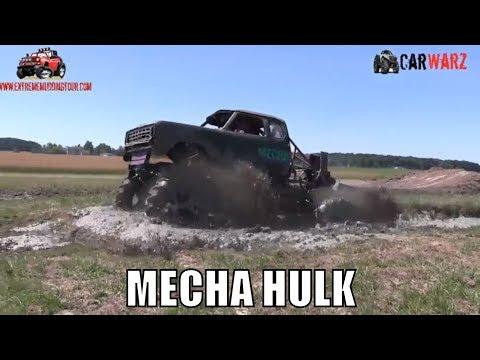 MECHA HULK Mega Truck Mudding At Red Barn Customs 2018