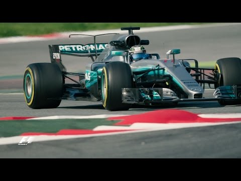F1 2017: New-Look Cars In Action in Barcelona