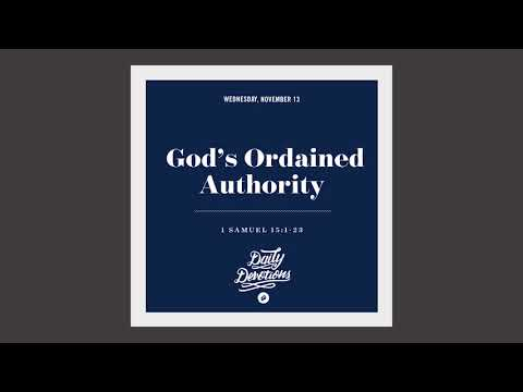 Gods Ordained Authority - Daily Devotion