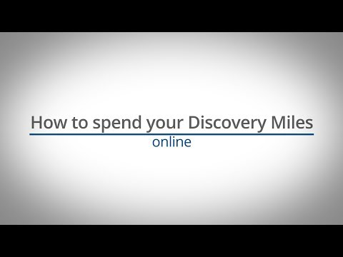 How to spend your Discovery Miles online