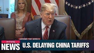 Trump delays new tariffs on some Chinese imports, including cellphones, to mid-December