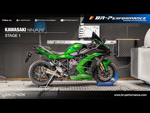 Kawasaki H2 SX (998 Compressor) / Stage 1 By BR-Performance / VANDEMON exhaust