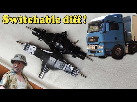 Tamiya Truck - Lesu axle w. switchable diff mount in MAN TGX - UCfQkovY6On1X9ypKUr9qzfg