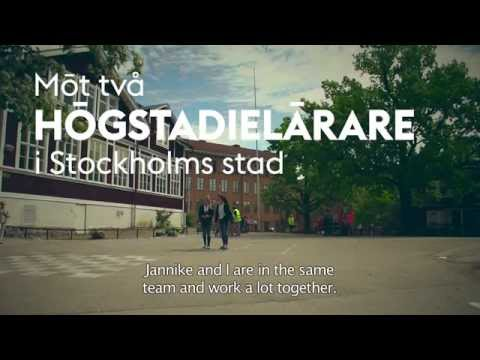 Meet two secondary school teachers (swedish version, with english subtitles)
