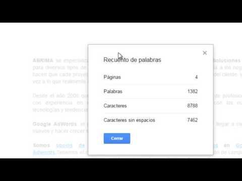 Encuentra el Contador de Palabras en tu Documento de Google con este atajo de teclado