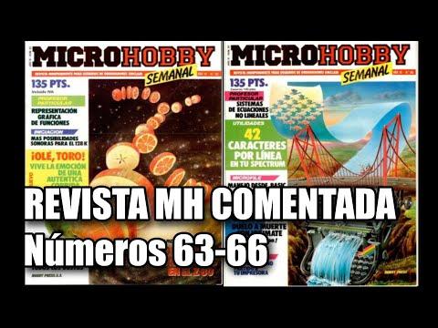 REVISTA MICROHOBBY COMENTADA NUMEROS 63 AL 66