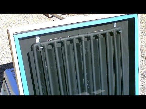 "DIY Solar Water Heater! The CPVC ""Drip-Edge� Solar Water Heater! - New Design/Exp.(CPVC+Metal)"